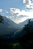 Light Streaming Through the Valley Below, Glacier National Park